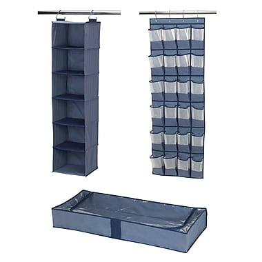 Household Essentials® 3-Piece Closet Storage Set, Blue