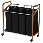 Household Essentials® Bamboo Laundry Quad Sorter
