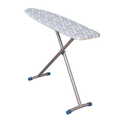 Household Essentials® Fibertech® Top Euro Arch T-Leg Ironing Board, Satin Silver