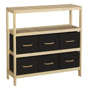 Household Essentials® Wood Frame Storage Unit, Natural