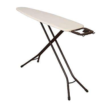 Household Essentials Ultra 4-Leg Ironing Board with Iron Rest, Antique bronze