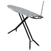 Household Essentials® Fibertech® Deluxe Rectangle Top Steel 4-Leg Ironing Board, Black