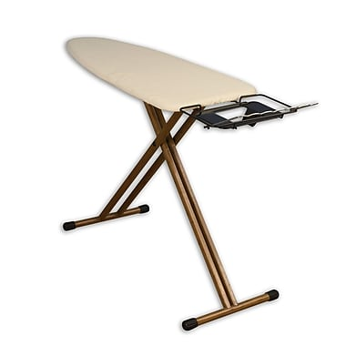 Household Essentials Bamboo-Leg Wide Top Ironing Board