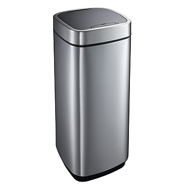 Household Essentials® EKO 35 Ltr Perfect Sensor Step Waste Bin With Automatic Lid, Stainless Steel