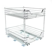 "Household Essentials® Glidez 14 1/2"" Two-Tier Under Cabinet Sliding Organizer, Chrome"