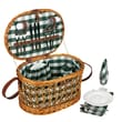 Household Essentials® Fully Lined Oval Shaped Basket, Willow Picnic