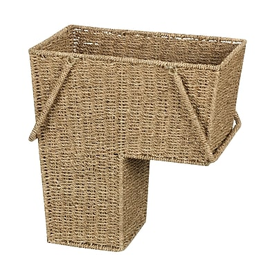 Household Essentials® Seagrass Stair Basket With Handles, Natural