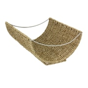Household Essentials® Woven Seagrass Scoop Magazine Rack
