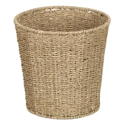 Household Essentials® Woven Seagrass Waste Bin, Natural