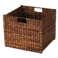 Household Essentials® Banana Leaf Square Laundry Storage Bin, Dark Brown