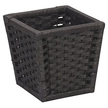 Household Essentials® Paper Rope Waste Basket, Black