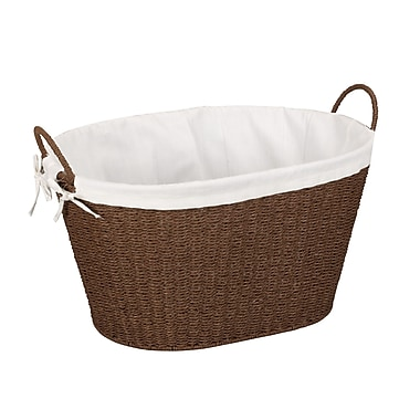 Household Essentials® Paper Rope Laundry Basket With Liner & Handles