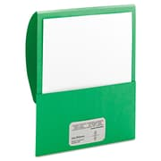 Smead® Letter Textured Stackit® Folder, Green, 10/Pack