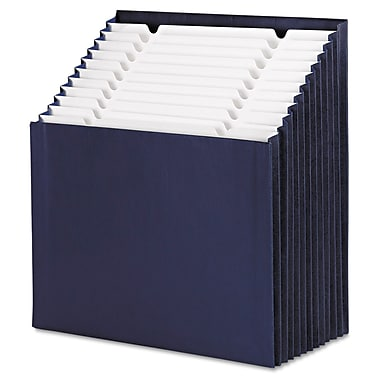 Smead® Stadium® Letter 12-Pocket Stadium File W/7/8in. Expansion, Navy Blue