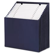 "Smead® Stadium® Letter 12-Pocket Stadium File W/7/8"" Expansion, Navy Blue"