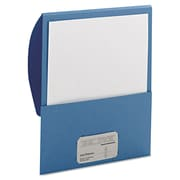 Smead® Letter Textured Stackit® Folder, Blue, 10/Pack