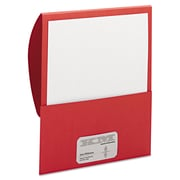 Smead® Letter Textured Stackit® Folder, Red, 10/Pack