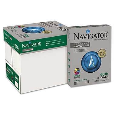 Navigator™ Platinum 60 lbs. Multipurpose Paper, 8 1/2in. x 11in., White, 250/Carton