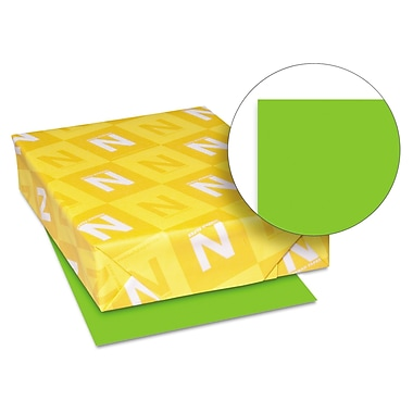 Neenah Paper Astrobrights® 65 lbs. Colored Card Stock, 8 1/2in. x 11in., Martian Green, 250 Sheets/Ream