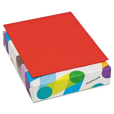 Mohawk BriteHue Multipurpose Colored Paper, 8 1/2in. x 11in., Red, 500 Sheets/Ream
