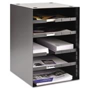 MMF™ Industries Four Adjustable Shelves Steel Desktop Sorter, Black