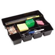 Rubbermaid® Plastic Nine-Compartment Deep Drawer Organizer, Black