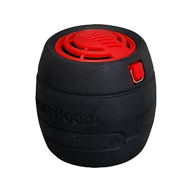 MicroNet® BeatBoom 3000 Portable Wireless Bluetooth Speaker With Built-in Speakerphone, Black/Red.