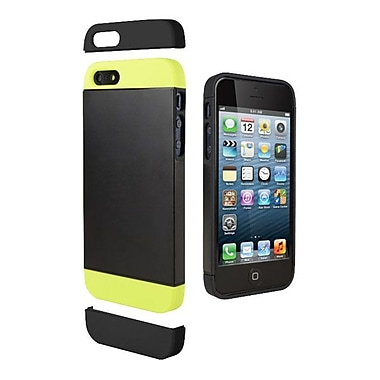 Cygnett Alternate Two Tone Dockable Case For iPhone 5 + 5s, Black/Lime