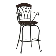 AHB Arielle High Back Wood Counter Height Stool, Espresso