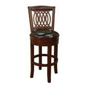 AHB Atwood High Back Leather Counter Height Stool, Toast