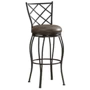 AHB Ava Mid Back Coco Bonded Leather Counter Height Stool, Coco