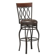 AHB Bella High Back Leather Counter Height Stool, Bourbon