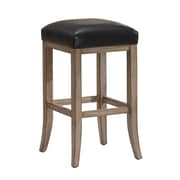 AHB Casablanca Backless Leather Counter Height Stool, Java
