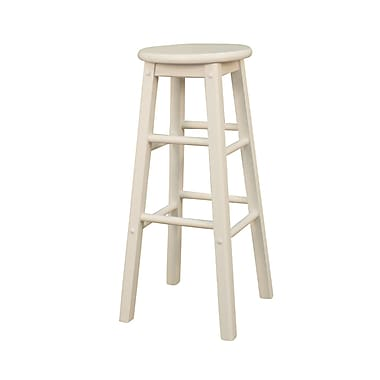AHB Classic Backless Wood Counter Height Stool, White