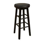 AHB Delta Backless Vinyl Bar Height Stool, Black