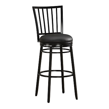 AHB Easton Mid Back Vinyl Counter Height Stool, Black