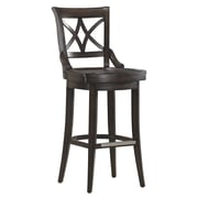 AHB Fremont Mid Back Wood Counter Height Stool, Riverbank