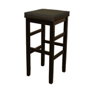 AHB Jensen Backless Vinyl Bar Height Stool, Black
