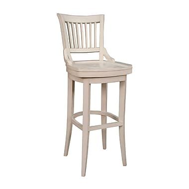 AHB Liberty High Back Wood Bar Height Stool, Antique White
