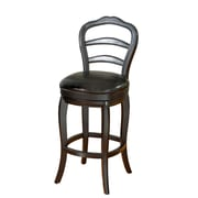 AHB Milan Mid Back Leather Counter Height Stool, Black