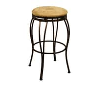 AHB Padova Backless Microfiber Counter Height Stool, Coco