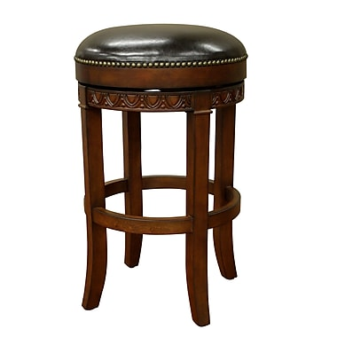 AHB Portofino Backless Leather Tall Bar Height Stool, Suede