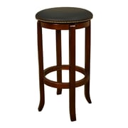 AHB Princess Backless Vinyl Counter Height Stool, Walnut