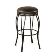AHB Romano Tobacco Bonded Backless Leather Counter Height Stool, Coco
