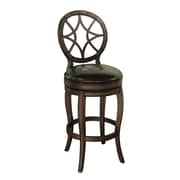 AHB Santiago High Back Toast Bonded Leather Counter Height Stool, Sierra