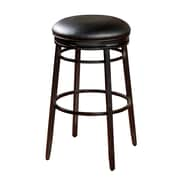 AHB Silvano Backless Vinyl Counter Height Stool, Black
