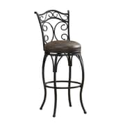 AHB Solana Mid Back Coco Bonded Leather Bar Height Stool, Graphite