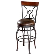 AHB Starletta High Back Tobacco Bonded Leather Bar Height Stool, Graphite