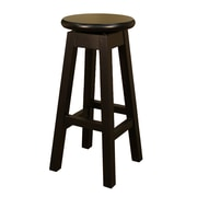 AHB Taylor Backless Wood Counter Height Stool, Black