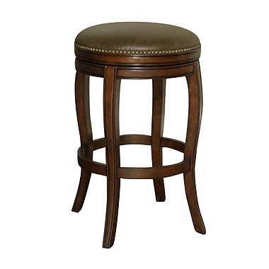 AHB Wilmington Coco Backless Leather Extra Tall Bar Height Stool, Navajo